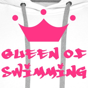 Queen of Swimming T-Shirts - Men's Premium Hoodie