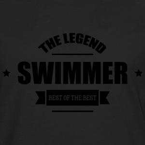 Swimmer The Legend T-shirts - Långärmad premium-T-shirt herr