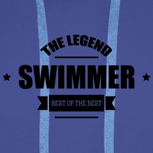 Swimmer The Legend Bottles & Mugs - Men's Premium Hoodie