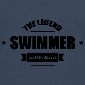 Swimmer The Legend Kopper & flasker - Premium langermet T-skjorte for menn