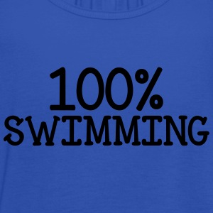 100% Swimming T-Shirts - Women's Tank Top by Bella