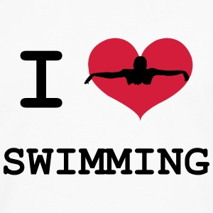 I Love Swimming T-shirts - Långärmad premium-T-shirt herr