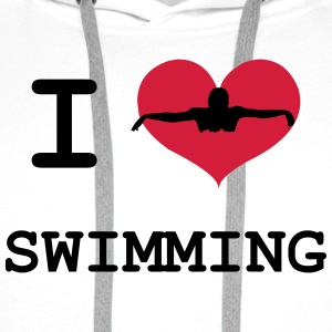 I Love Swimming T-shirts - Premiumluvtröja herr