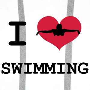 I Love Swimming Flaskor & muggar - Premiumluvtröja herr