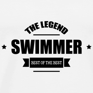 Swimmer The Legend Kasketter & Huer - Herre premium T-shirt