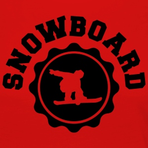 Snowboard Snowboarder Tee shirts - T-shirt manches longues Premium Femme
