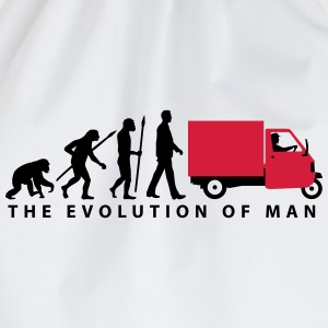 evolution_of_man_Piaggio Ape_092014_b_2c T-Shirts - Turnbeutel
