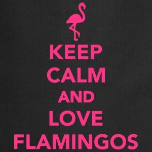 Keep calm and love Flamingos T-Shirts - Kochschürze
