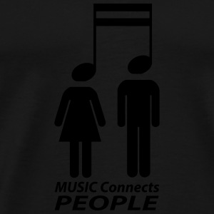 music connects people Manches longues - T-shirt Premium Homme