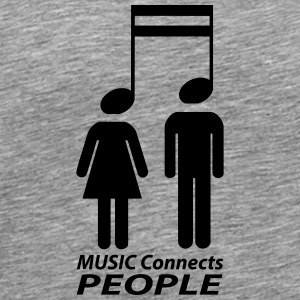 music connects people Langarmshirts - Männer Premium T-Shirt