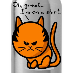 cat grumpy cat on shirt Tee shirts - Gourde