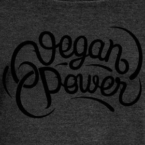 Vegan Power T-Shirts - Women's Boat Neck Long Sleeve Top