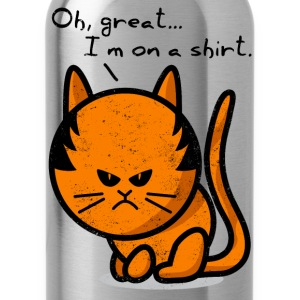 cat grumpy cat grunge on shirt Manches longues - Gourde