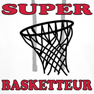Super basketteur Tee shirts - Sweat-shirt à capuche Premium pour hommes