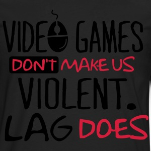 Video Games don't make us violent. Lag does! T-shirts - Herre premium T-shirt med lange ærmer