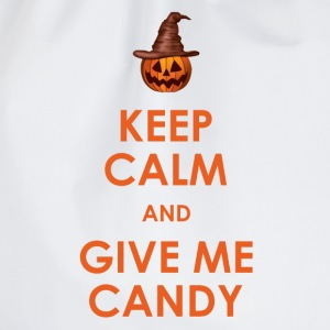 Keep Calm and Give Me Candy Halloween T-Shirts - Drawstring Bag