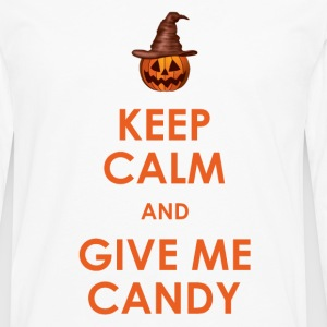 Keep Calm and Give Me Candy Halloween T-Shirts - Men's Premium Longsleeve Shirt