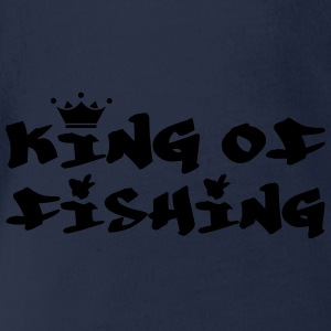 King of Fishing Shirts - Baby bio-rompertje met korte mouwen