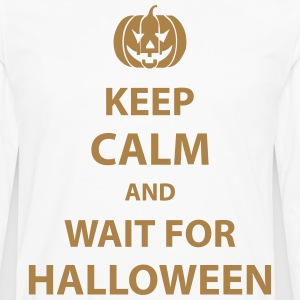 keep calm and wait for halloween T-Shirts - Men's Premium Longsleeve Shirt