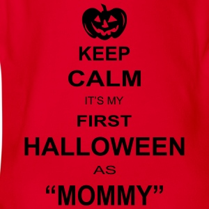 keep calm its my first halloween as mommy Hoodies - Organic Short-sleeved Baby Bodysuit