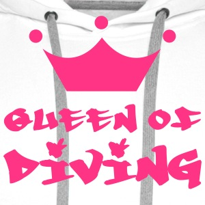 Queen of Diving T-skjorter - Premium hettegenser for menn