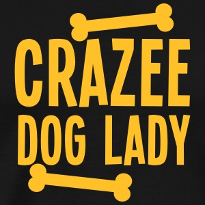 crazee (CRAZY) dog lady with doggy bones Long Sleeve Shirts - Men's Premium T-Shirt
