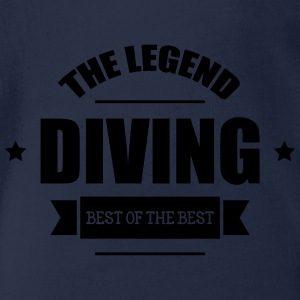 Diving The Legend Shirts - Organic Short-sleeved Baby Bodysuit