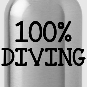 100% Diving Camisetas - Cantimplora