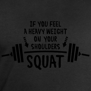 Squat!!! T-Shirts - Men's Sweatshirt by Stanley & Stella