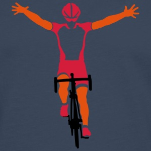 Road cyclists at finish T-shirts - Mannen Premium shirt met lange mouwen