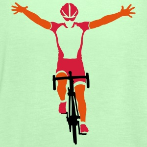 Road cyclists at finish Shirts - Women's Tank Top by Bella