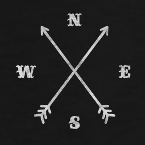 Hipster compass / crossed arrows / retro look Caps & Hats - Men's Premium T-Shirt