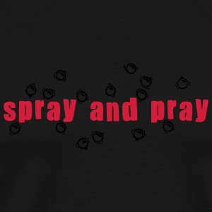spray and pray  Tops - Männer Premium T-Shirt