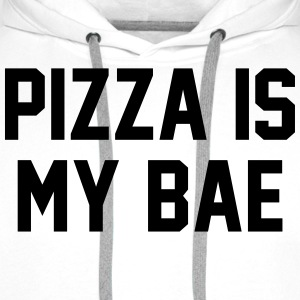 Pizza is my bae Tee shirts - Sweat-shirt à capuche Premium pour hommes