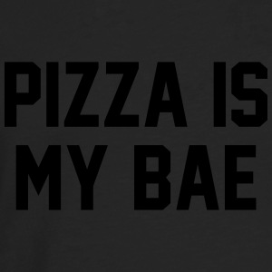 Pizza is my bae T-skjorter - Premium langermet T-skjorte for menn