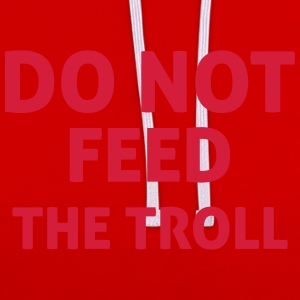 Do Not Feed The Troll T-Shirts - Kontrast-Hoodie
