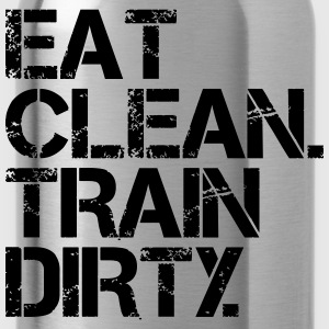 Eat Clean Train Dirty - Bodybuilding, Crossfit T-shirts - Drinkfles