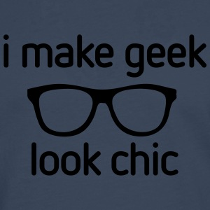 I make Geek look Chic T-shirts - Mannen Premium shirt met lange mouwen