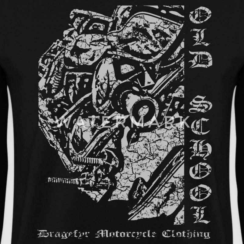 Biker Sweatshirt | Old School Chopper - Männer Pullover