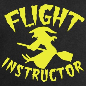 FLIGHT INSTRUCTOR witch on a broomstick Shirts - Men's Sweatshirt by Stanley & Stella