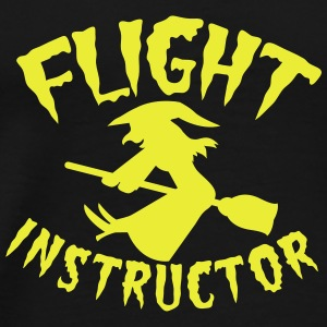FLIGHT INSTRUCTOR witch on a broomstick Tops - Men's Premium T-Shirt