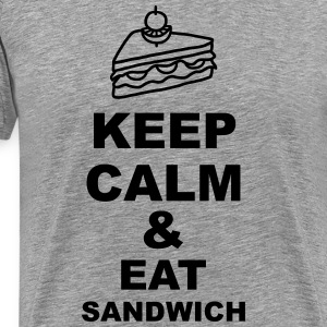 Keep calm & eat Sandwich Langarmshirts - Männer Premium T-Shirt