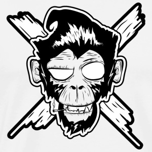 Monkey, Affe, Punk, Football, Rock, Billy, Roll, P - Männer Premium T-Shirt
