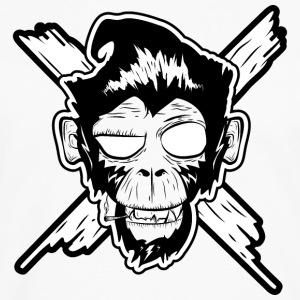 Monkey, Affe, Punk, Football, Rock, Billy, Roll, P - Männer Premium Langarmshirt