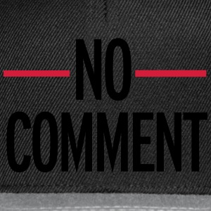 No Comment Sweat-shirts - Casquette snapback