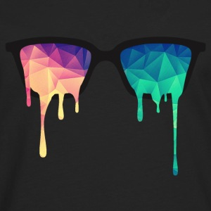 Abstract Psychedelic Nerd Glasses with Color Drops Camisetas - Camiseta de manga larga premium hombre