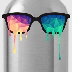 Abstract Psychedelic Nerd Glasses with Color Drops Hoodies & Sweatshirts - Water Bottle