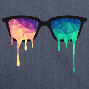 Abstract Psychedelic Nerd Glasses with Color Drops Débardeurs - Sac bandoulière 100 % recyclé