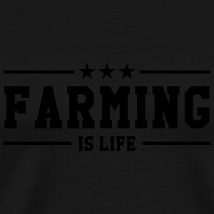 Farming is life Flaskor & muggar - Premium-T-shirt herr