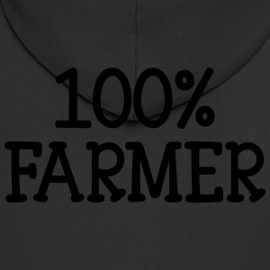 100% Farmer Hoodies - Men's Premium Hooded Jacket